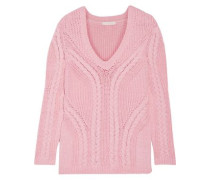Mafieux cable-knit cotton-blend sweater