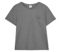Striped Mélange Jersey T-shirt Gray