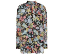 Printed Silk-georgette Shirt Multicolor