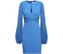 Paneled Stretch-knit And Crepe Mini Dress Cobalt Blue