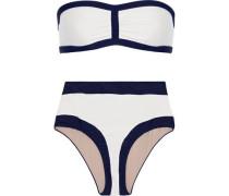 Ruched Bandeau Bikini Off-white