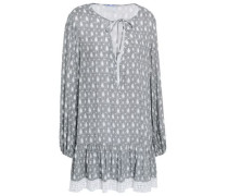 Printed Gauze Coverup Gray  /L