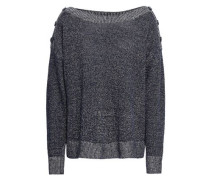 Marled Linen And Cotton-blend Sweater Midnight Blue