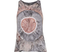 Tie-dyed Pima Cotton-jersey Tank Taupe