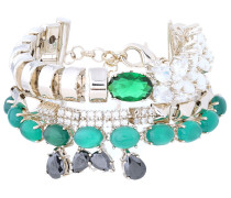 Woman Gold-tone, Crystal And Stone Bracelet Silver
