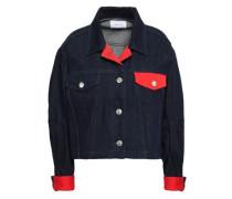 Cropped Denim Jacket Dark Denim Size 0
