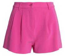 Pleated crepe shorts