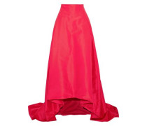 Woman Flared Pleated Silk-faille Maxi Skirt Bright Pink
