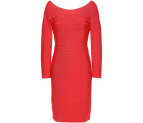 Woman Candice Off-the-shoulder Bandage Mini Dress Tomato Red