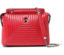 Dot Com Quilted Leather Shoulder Bag Red Size --