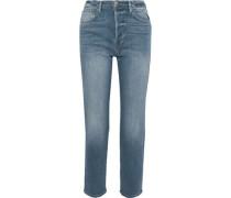 Le Original Cropped High-rise Straight-leg Jeans Mid Denim