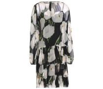 Tiered floral-print silk-chiffon dress