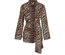 Leopard-print Cotton-twill Jacket Animal Print