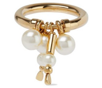 Gold-tone Faux Pearl Ring Gold