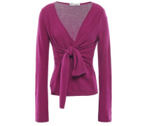 Knotted Cashmere Top Magenta