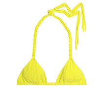 Macramé-trimmed triangle bikini top
