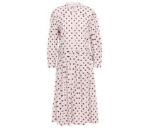 Polka-dot Stretch-cotton Dress Pastel Pink
