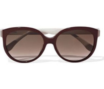 Round-frame Two-tone Acetate Sunglasses Burgundy Size --