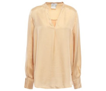 Washed-satin Blouse Beige