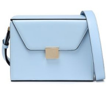 Leather Shoulder Bag Sky Blue Size --