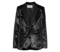 Metallic Velvet Blazer Black Size 0