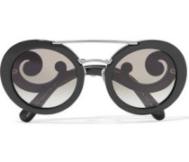 Round-frame Acetate Sunglasses Black Size --