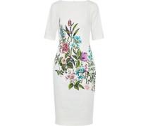 Claire Floral-print Stretch-cotton Dress Ivory