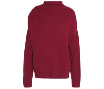Draped wool, yak and cashmere-blend sweater