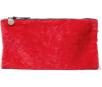 Calf Hair Clutch Red Size --