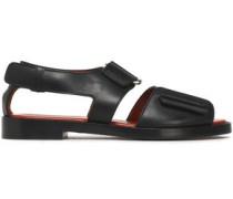 Addis Cutout Leather Sandals Black