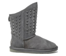 Pistol Studded Shearling Boots Anthracite