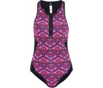 Hadley Cutout Floral-print Swimsuit Multicolor