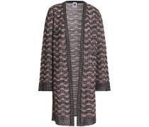 Metallic Crochet-knit Cardigan Blush