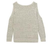 Muriel cold-shoulder cotton-blend sweater