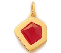 Petra 18-karat gold vermeil quartz pendant