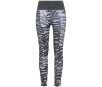Woman Paneled Printed Stretch Leggings Anthracite