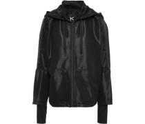 Mesh Hooded Jacket Black