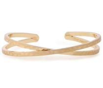 Hammered gold-tone cuff