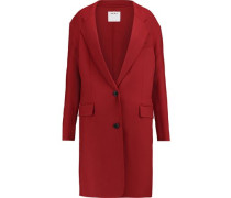 Woven stretch-wool coat
