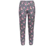Floral-print Fleece Track Pants Lavender
