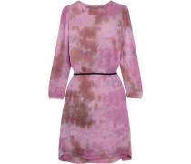 Tie-dyed silk-georgette dress