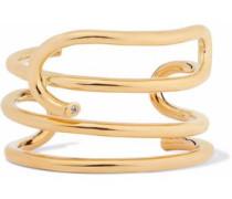 Gold-plated topaz cuff