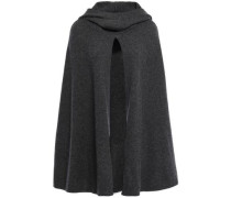 Madison Split-front Cashmere Hooded Cape Dark Gray Size ONESIZE