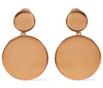 Gold-tone Clip Earrings Copper Size --