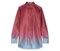 Woman Sander Dégradé Satin Shirt Plum