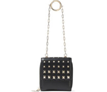 Studded Leather Wallet Black Size --