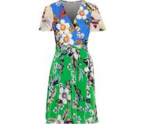 Floral-print Silk-jersey Wrap Dress Multicolor