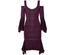 Kamryn cold-shoulder bandage and pointelle-knit dress