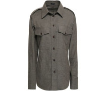 Cotton-flannel Shirt Army Green