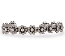Woman Roxy Oxidized Silver-tone Crystal Cuff Silver